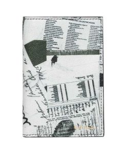 This is the Paul Smith White Show Collage 6CC Billfold Card Holder.