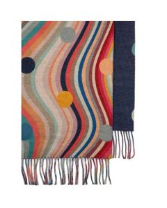 This is the Paul Smith Women's Swirl & Polka Dot Cashmere Blend Scarf.