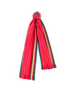 This Paul Smith pink scarf is made from merino wool.