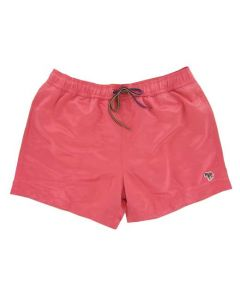 These stylish swim trunks have been designed by Paul Smith and come in a peach colour.