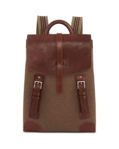 This is the Purdey 18L Canvas Walnut Backpack with Blanket Carrier.