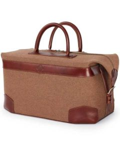 The Purdey London walnut brown 48 hour holdall.