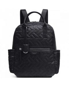 This is the Radley Black Finsbury Park Quilt Medium Backpack.
