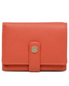 This is the Radley Flame Orange Folded Larkswood Purse.