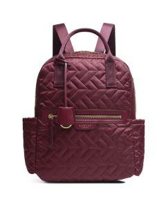 This is the Radley Merlot Finsbury Park Quilt Medium Backpack.