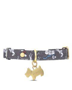 This is the Radley Thunder Grey Off on an Adventure Small/Medium Dog Collar.
