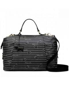 This is the Radley Stripe Black Zip-Around Multiway Bag.