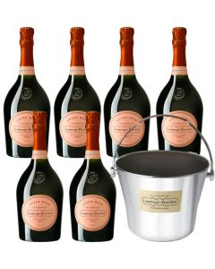 Ultimate Champagne Bucket and 6x75cl Cuvée Rosé Bottles.