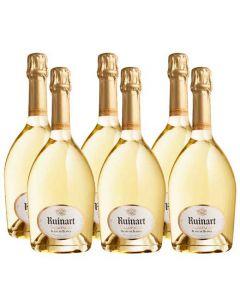 Ruinart 6 x 75 cl Blanc de Blancs Champagne.