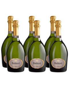 Ruinart 6 x 75 cl Brut Champagne Bottles.