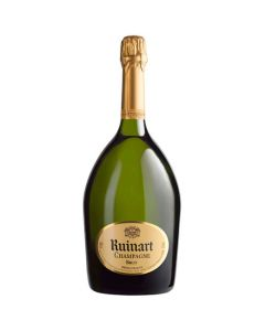 This Ruinart Brut champagne bottle comes in a magnum.