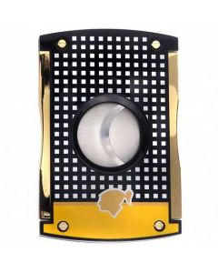 This is the S.T. Dupont Maxijet Black & Yellow Cohiba Cigar Cutter.