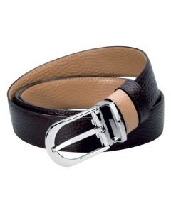 S.T Dupont Casual Chic Belt - Grained Reversible Strap.