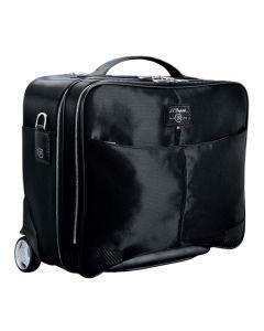 The S.T. Dupont Paris Défi Carbone Nylon Black Wheeled Briefcase