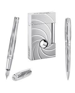 S.T. Dupont James Bond 007 Spectre Premium Collection Pens, Lighter & Gift Box Set.