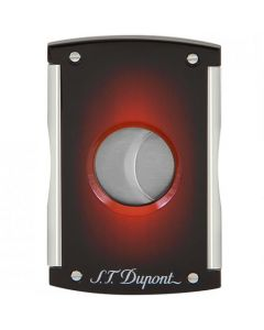 This is the S.T. Dupont Paris Sunburst Red Maxijet Cigar Cutter.