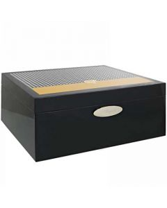 This is the S.T. Dupont Paris Black & Yellow Cohiba Natural Lacquer 50 Cigar Humidor.