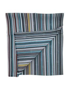 This Paul Smith striped scarf comes in a blue and white pattern.
