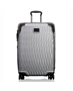 The TUMI silver polypropylene short stay packing case in the Latitude collection.