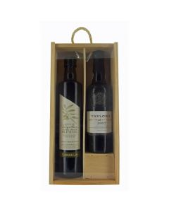 Taylor's Late Bottled Vintage Half Bottle of Port and Olive Oil Gift Set.