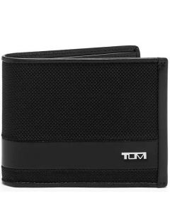 This is the TUMI Alpha Black Global Double Billfold Wallet.