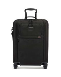 This is the TUMI Black Alpha 3 International Slim Super Léger Carry-On.