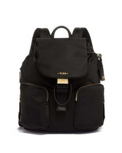 This black backpack has been designed by TUMI.