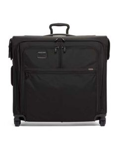 This extended trip garment bag has been designed by TUMI.