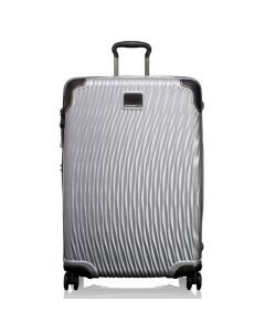 The TUMI silver polypropylene extended stay packing case in the Latitude collection.
