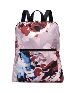 This is the TUMI Voyageur Blush Floral Just In Case Travel Backpack.