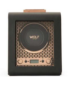 This is the WOLF Copper Axis Watch Winder.