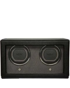 This is the WOLF Black Cub Double Watch Winder with Cover.