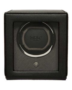 This is the WOLF Black Cub Watch Winder with Cover.