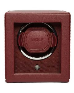 This is the WOLF Bordeaux Cub Watch Winder with Cover.