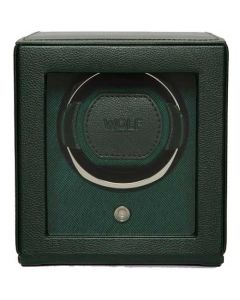 This is the WOLF Green Cub Watch Winder with Cover.