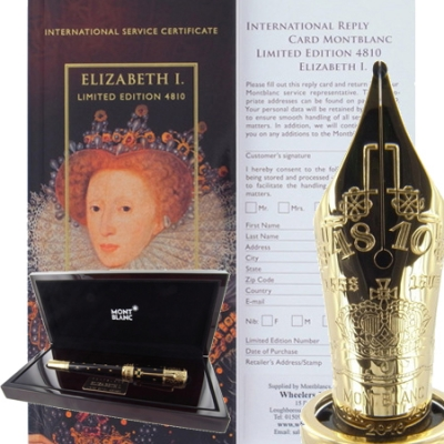 Queen Elizabeth I. Limited Edition Fountain Pen - Sold Out!