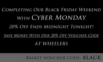 Cyber Monday 20% Off - Sale Ends Midnight Tonight