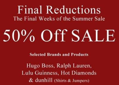 Summer Sale 2015 Final Reductions