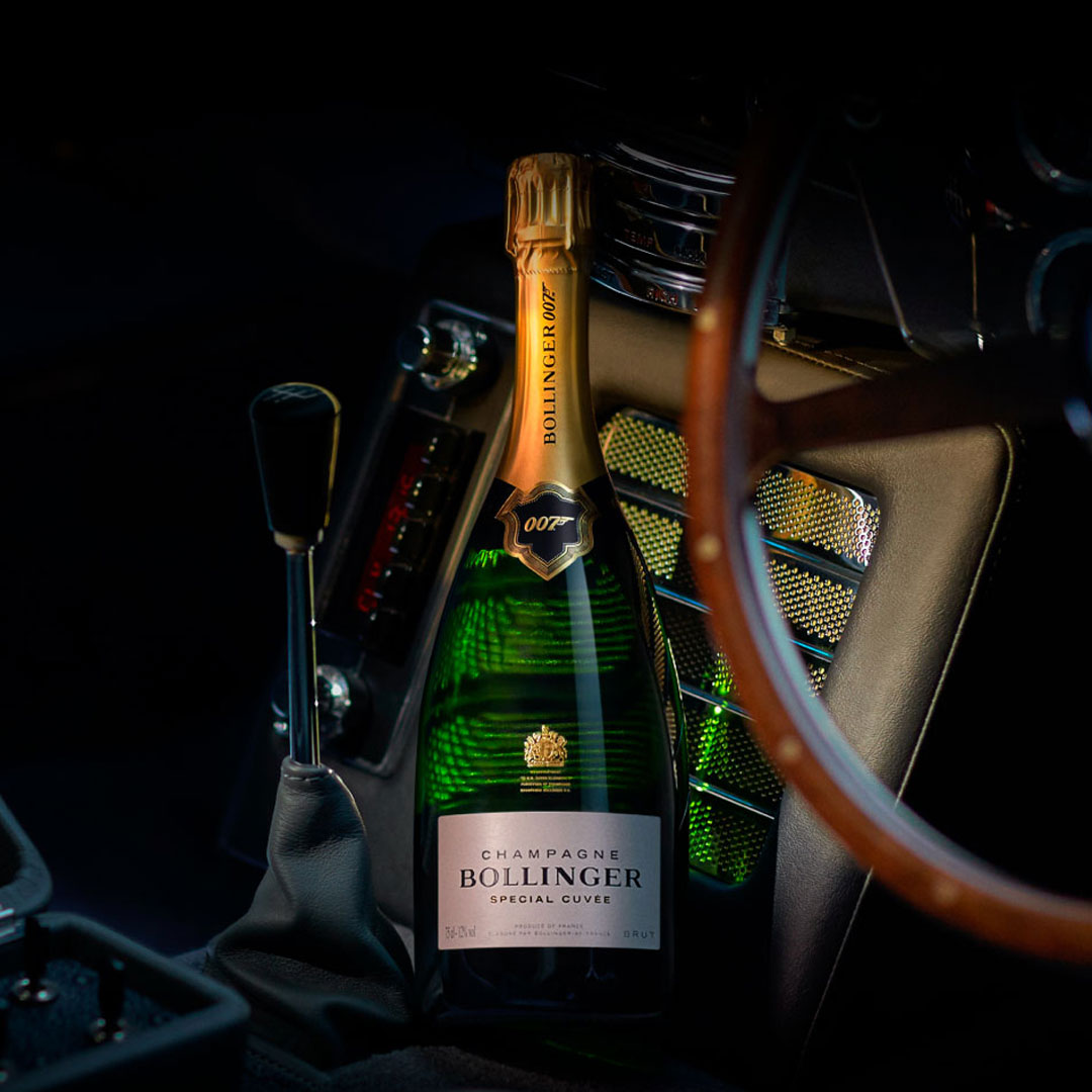 Bollinger Champagne in Aston Martin DB5