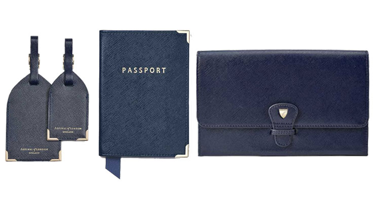 Aspinal of London Blue Travel Accessories