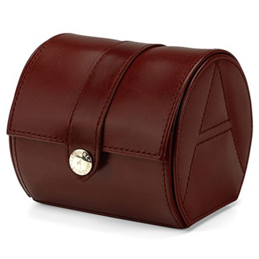 Cognac Smooth Leather Travel Watch Roll