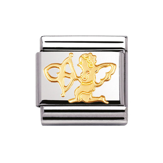 Classic Stainless Steel 18K Gold Love Cupid Charm