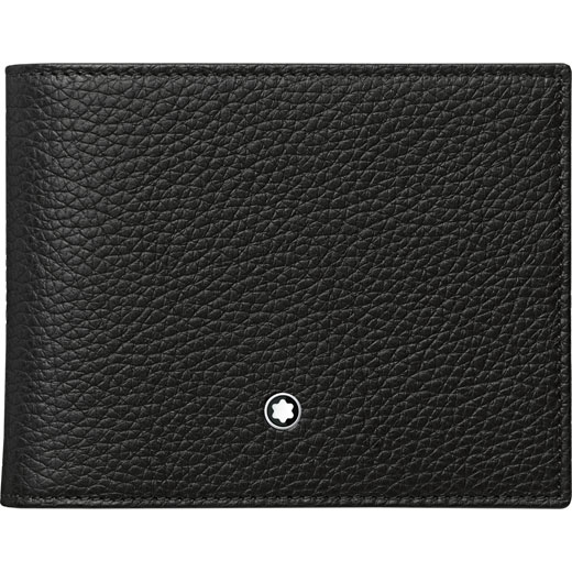 Meisterstück Soft Grain 6CC Wallet with Removable Card Holder in Black