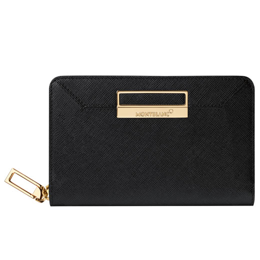 Sartorial Black Textured Leather 4CC Wallet