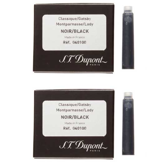 Fountain Pen Ink Cartridges - Black - 2 Packs of 6