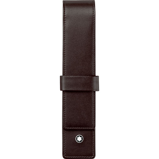 Meisterstück Classic Brown Leather Pen Pouch with Clasp