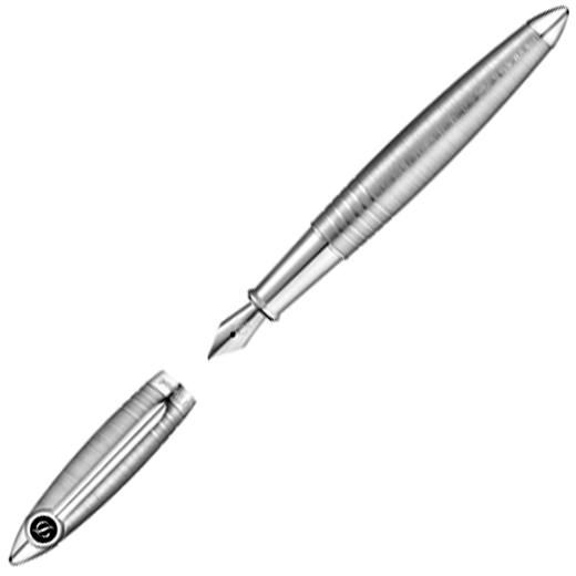 Streamline Brushed Palladium Fountain Pen