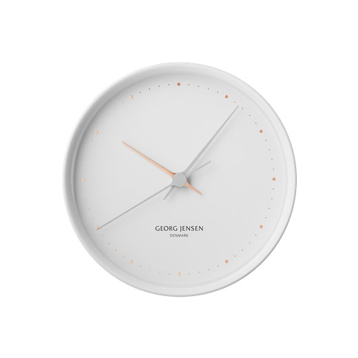 All The Way To Paris Koppel White 22cm Wall Clock