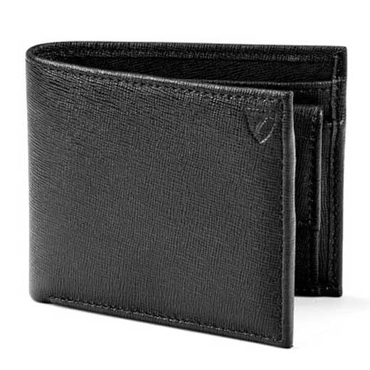 Black Saffiano 3CC Wallet with Coin Case