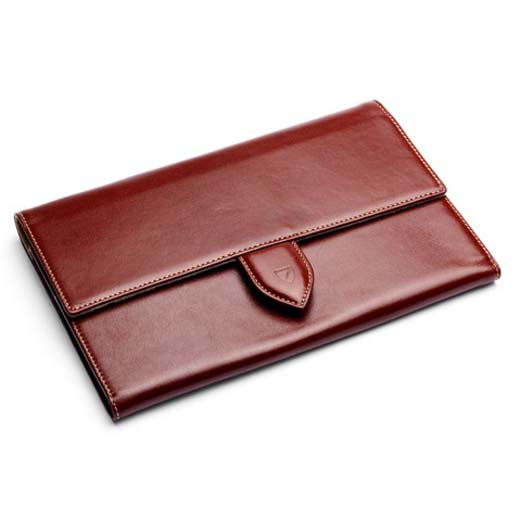 33bab8ea8907 Classic Smooth Cognac Travel Wallet. Aspinal of London ...